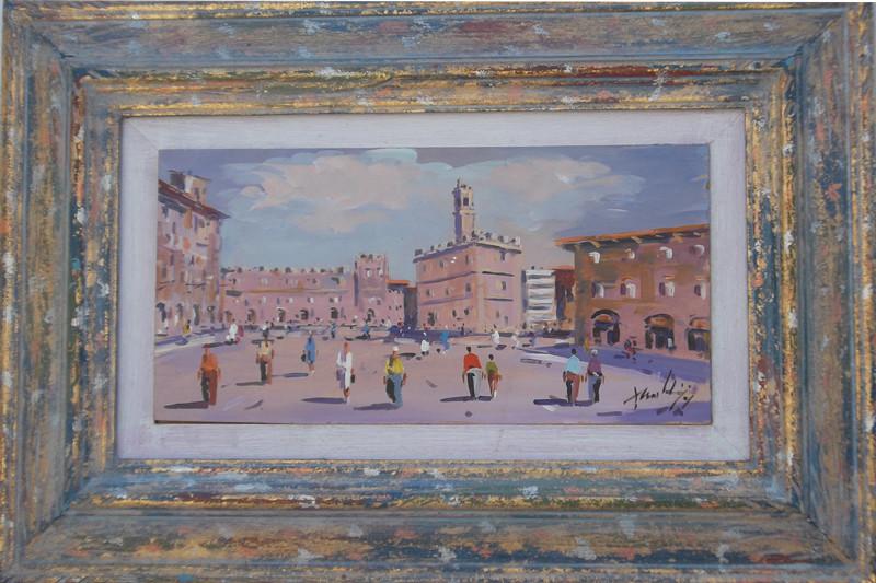 Volterra 15x30 olio/tavola codice 0136