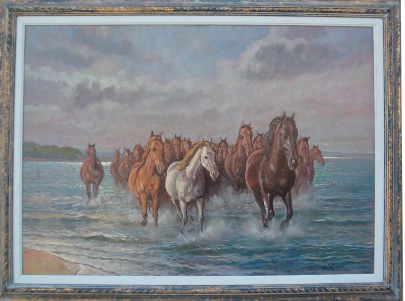 Cavalli in Maremma 50x70 olio/masonite codice 055