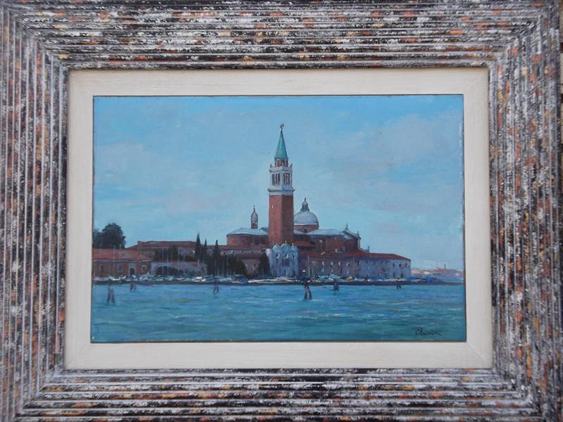15x20 olio/tavola codice 034  Isola di San Giorgio Venezia 20x30 olio/tavola codice 033