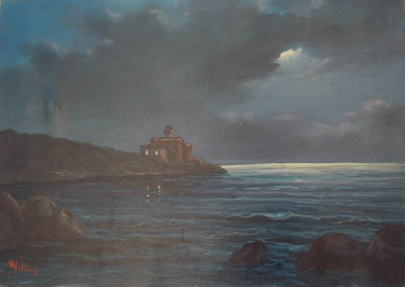 Castel Boccale 50x70 olio/tela codice 0180