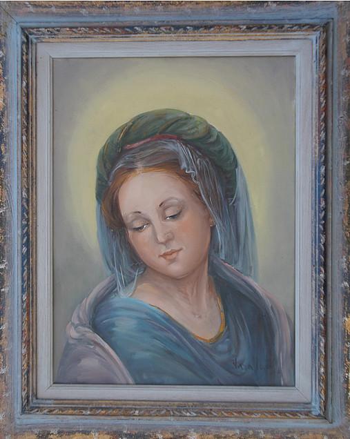 Madonna 30x40 olio/tela codice 038